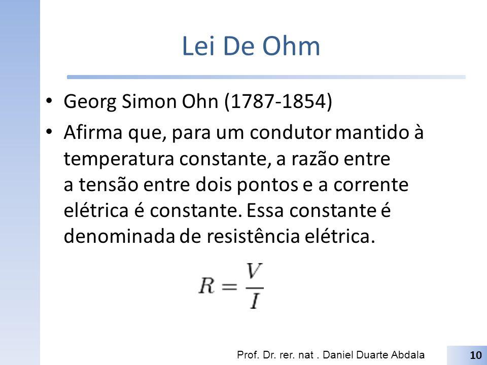Lei De Ohm Georg Simon Ohn (1787-1854)