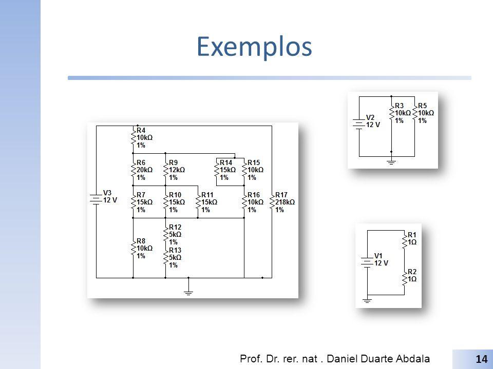 Exemplos Prof. Dr. rer. nat . Daniel Duarte Abdala