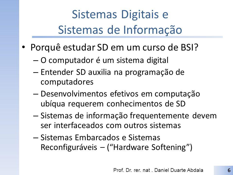 Sistemas Digitais e Sistemas de Informação