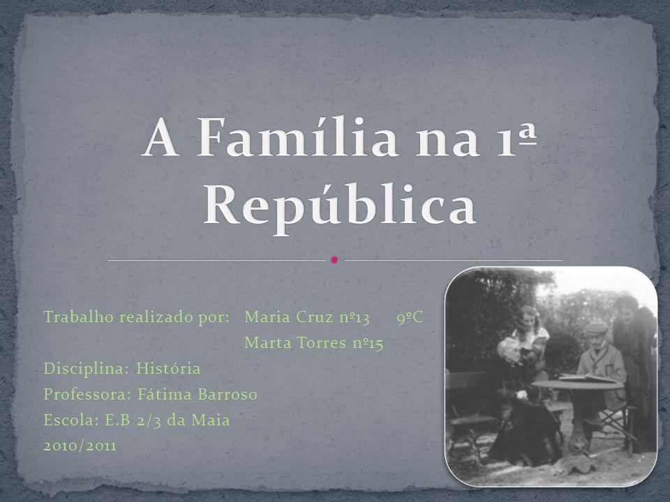 A Família na 1ª República