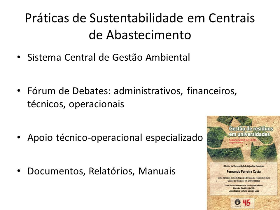 Práticas de Sustentabilidade em Centrais de Abastecimento