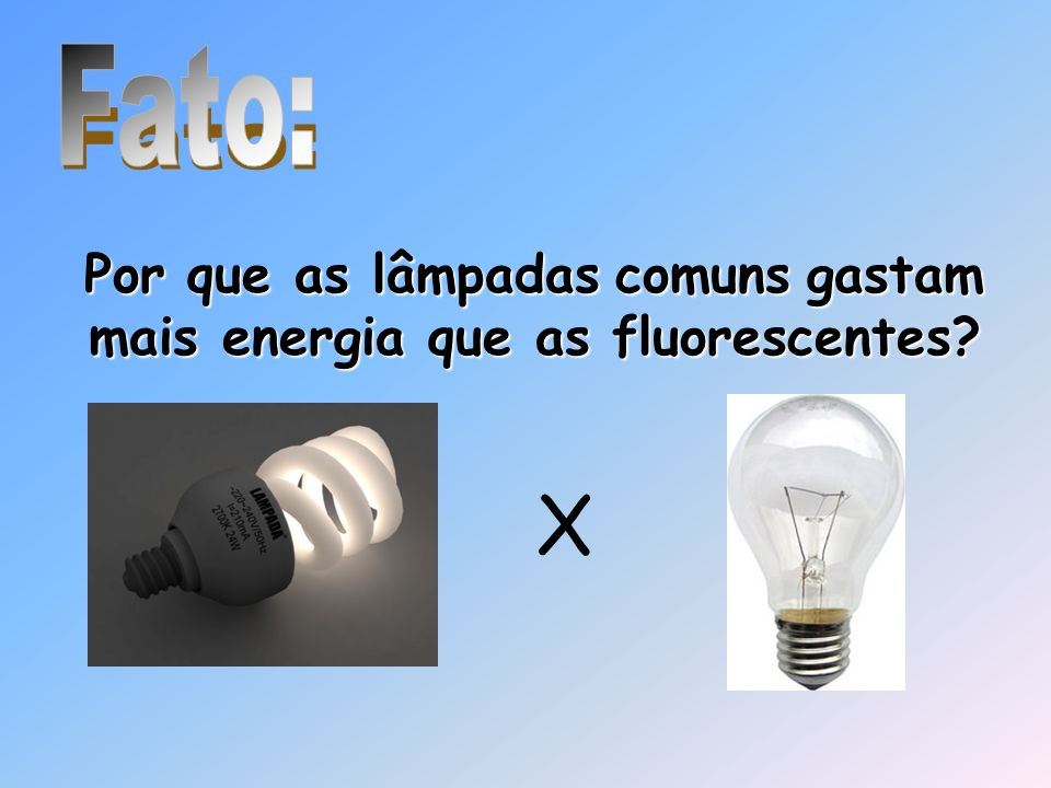 Por que as lâmpadas comuns gastam mais energia que as fluorescentes