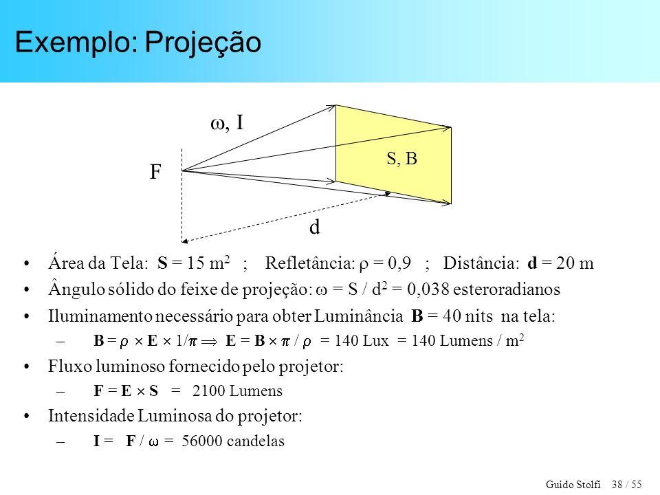 Exemplo: Projeção , I F d S, B