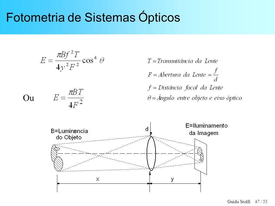 Fotometria de Sistemas Ópticos