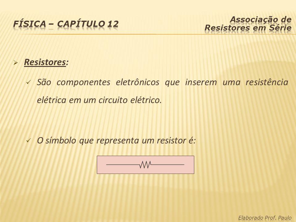 O símbolo que representa um resistor é: