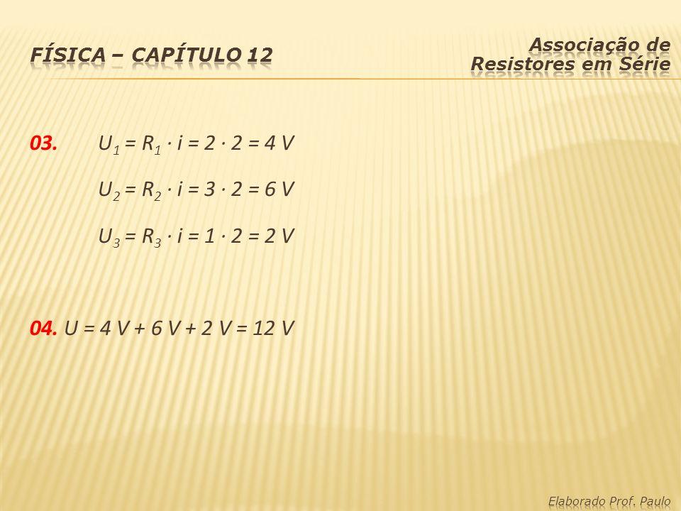 Física – capítulo 12 Associação de Resistores em Série.