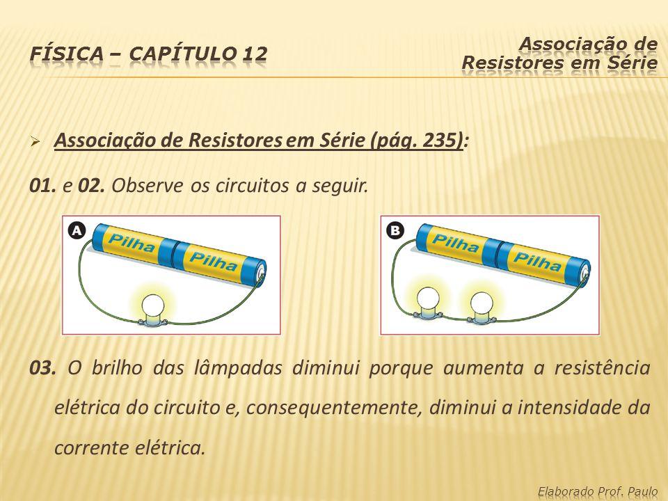 Associação de Resistores em Série (pág. 235):