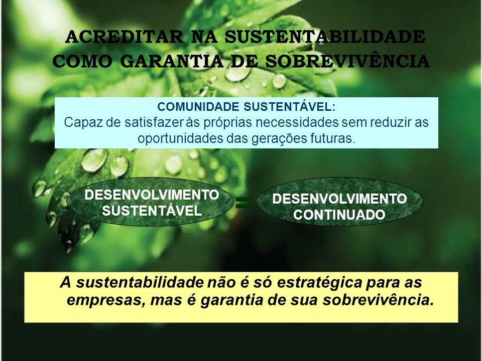 ACREDITAR NA SUSTENTABILIDADE COMO GARANTIA DE SOBREVIVÊNCIA