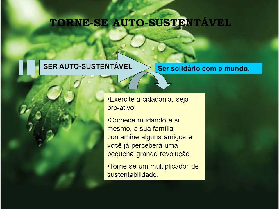 TORNE-SE AUTO-SUSTENTÁVEL