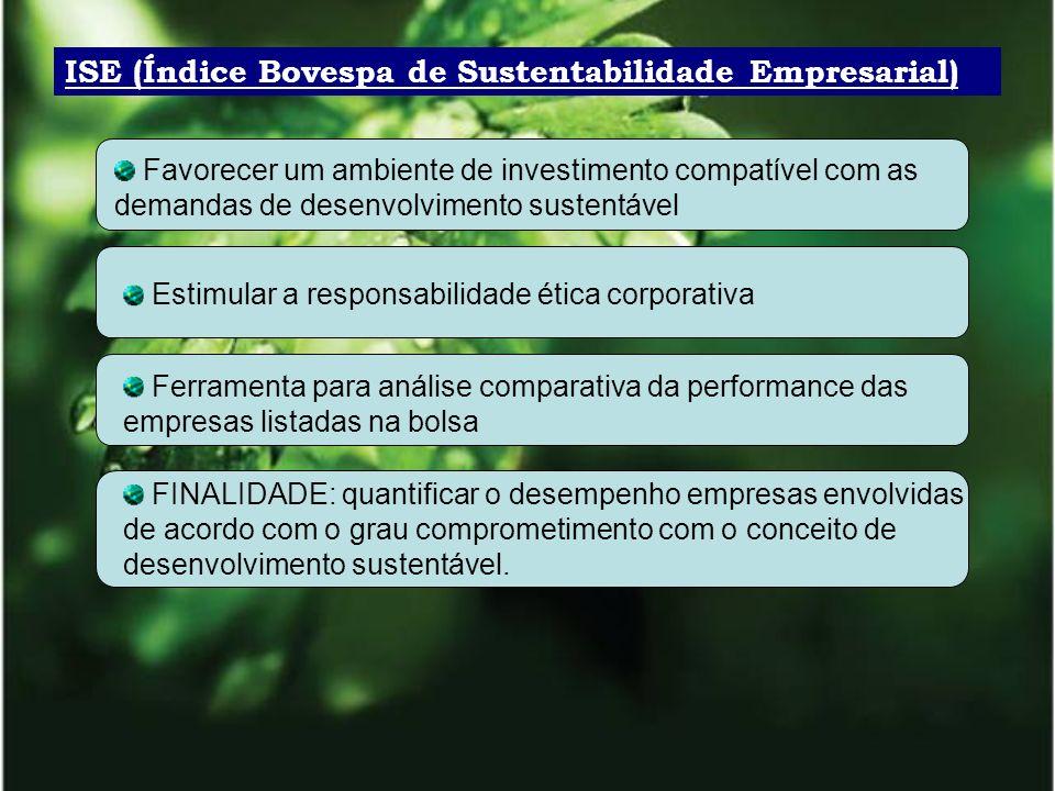 ISE (Índice Bovespa de Sustentabilidade Empresarial)