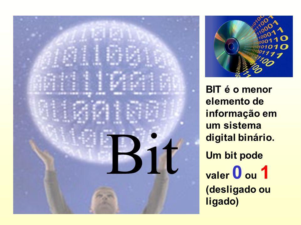BIT é o menor elemento de informação em um sistema digital binário.