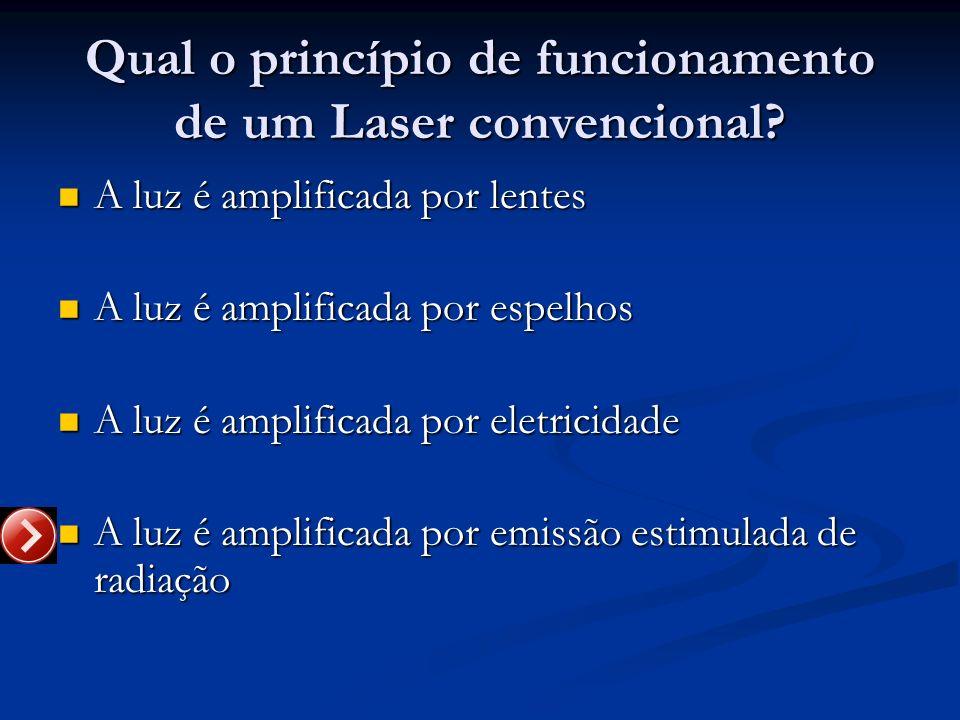 Qual o princípio de funcionamento de um Laser convencional