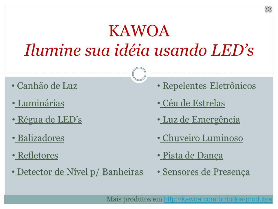 KAWOA Ilumine sua idéia usando LED's