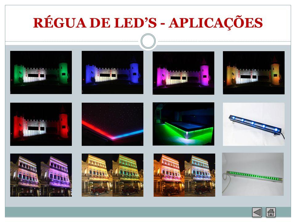RÉGUA DE LED'S - APLICAÇÕES