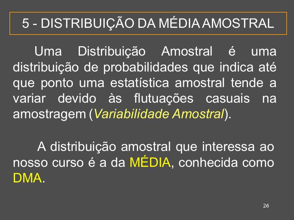 5 - DISTRIBUIÇÃO DA MÉDIA AMOSTRAL
