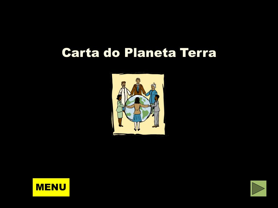 Carta do Planeta Terra MENU