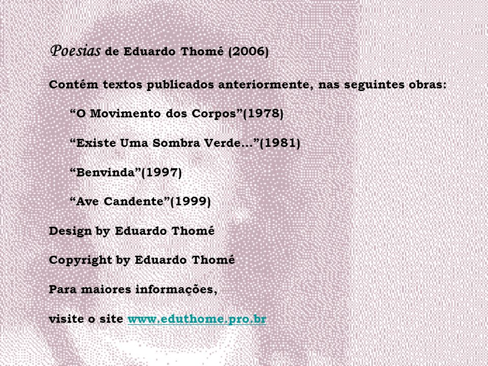 Poesias de Eduardo Thomé (2006)