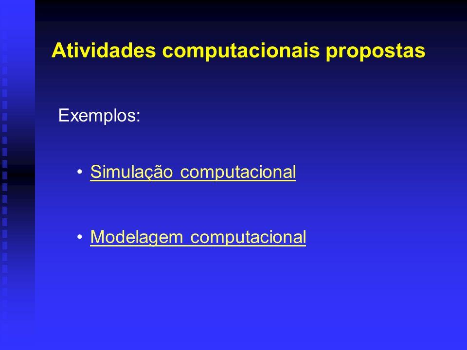 Atividades computacionais propostas