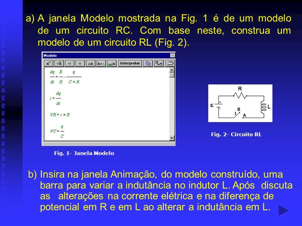 a). A janela Modelo mostrada na Fig. 1 é de um modelo