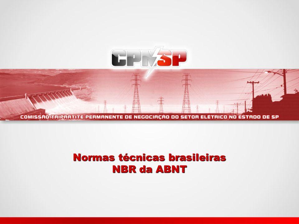Normas técnicas brasileiras NBR da ABNT