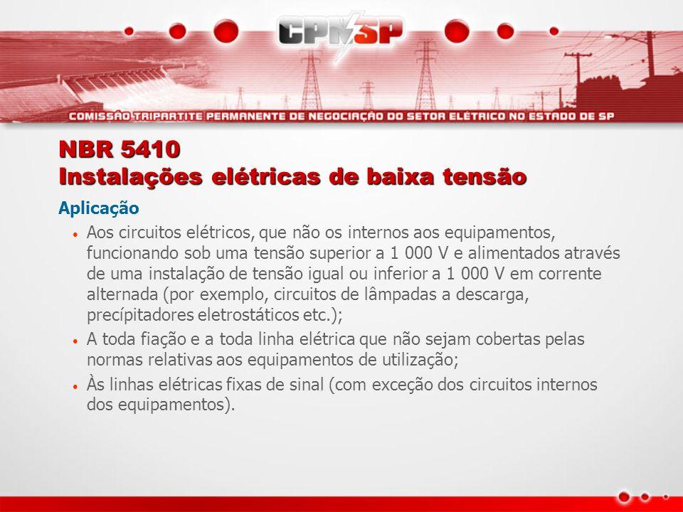 NBR 5410 Instalações elétricas de baixa tensão