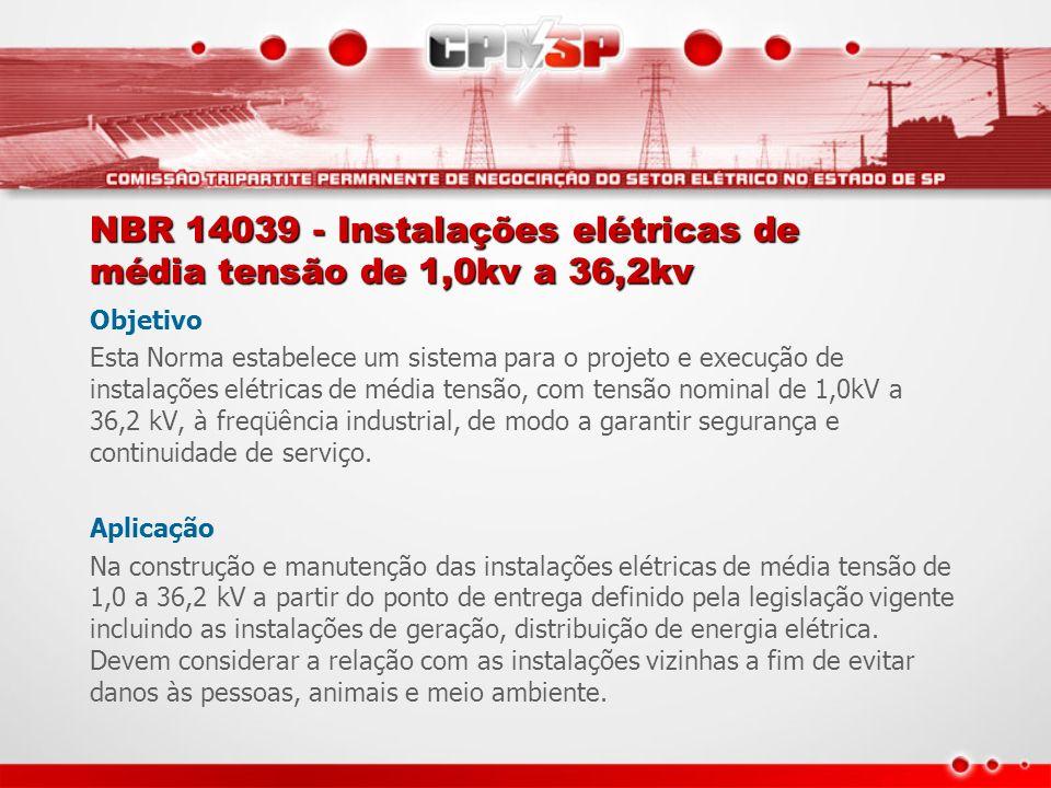 NBR 14039 - Instalações elétricas de média tensão de 1,0kv a 36,2kv