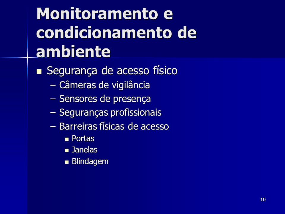 Monitoramento e condicionamento de ambiente