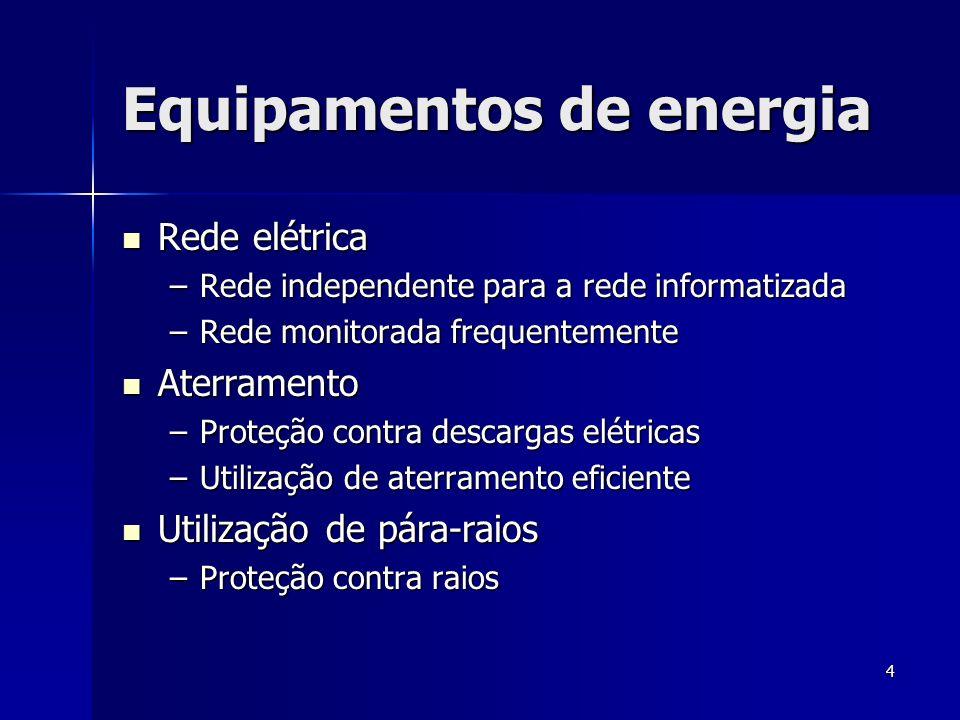Equipamentos de energia