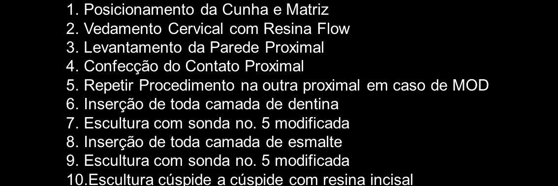Posicionamento da Cunha e Matriz
