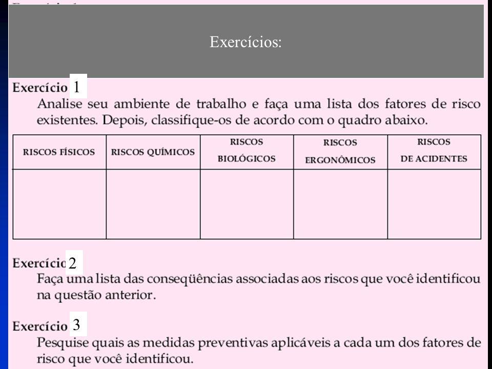 Exercícios: 1 2 3