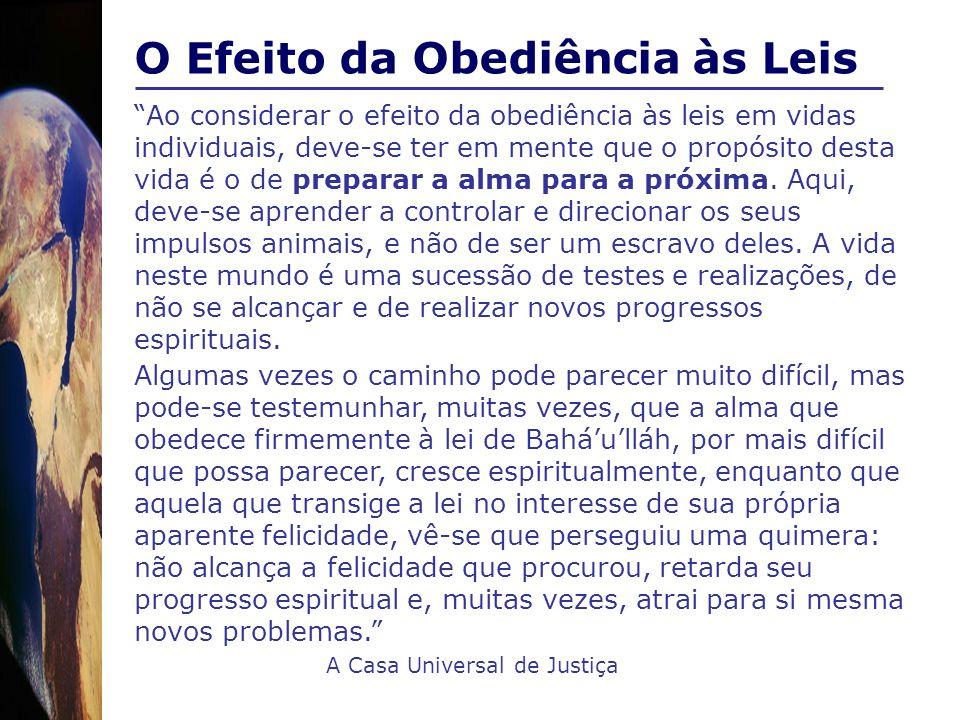 O Efeito da Obediência às Leis