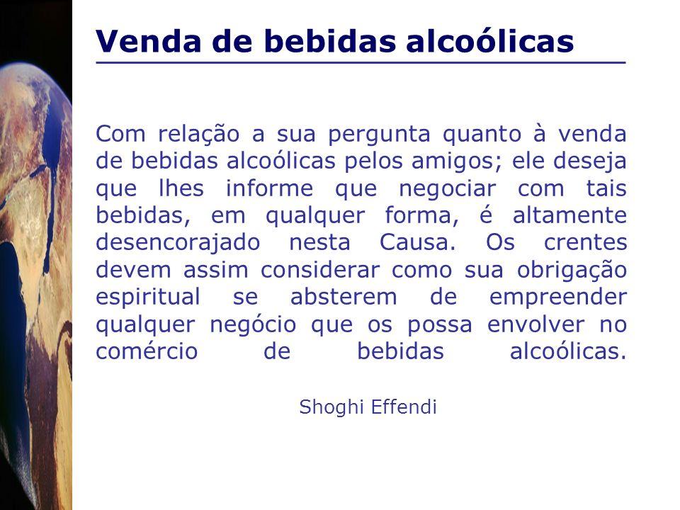 Venda de bebidas alcoólicas