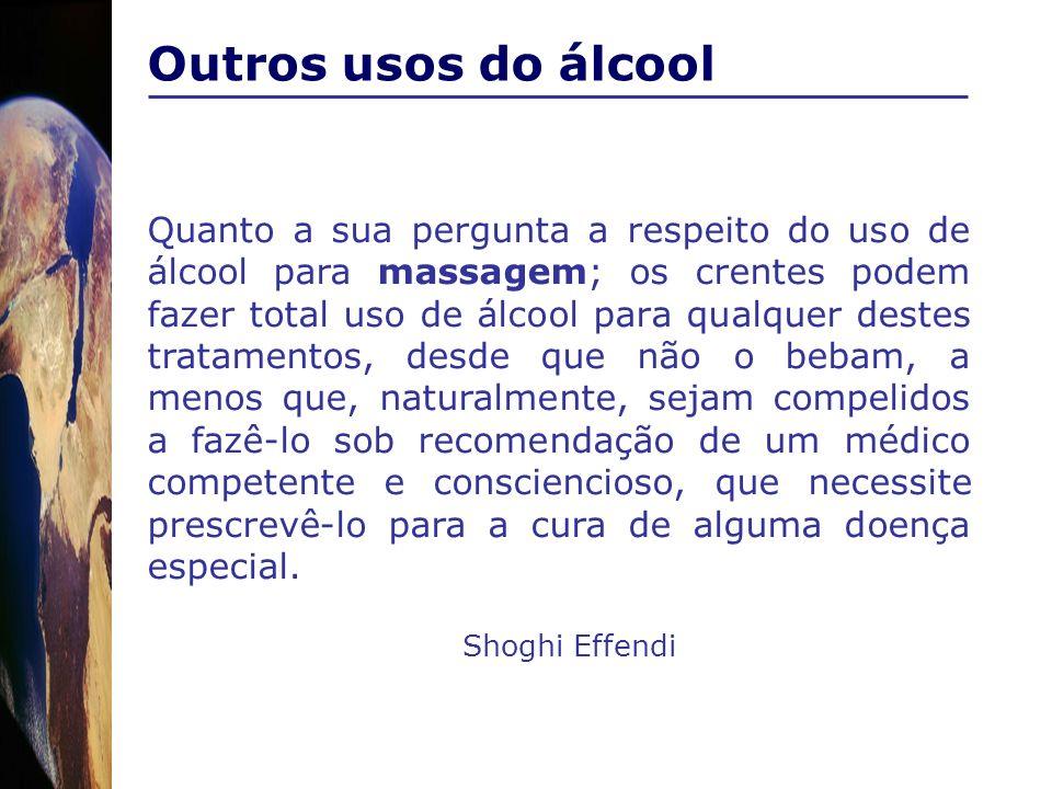 Outros usos do álcool