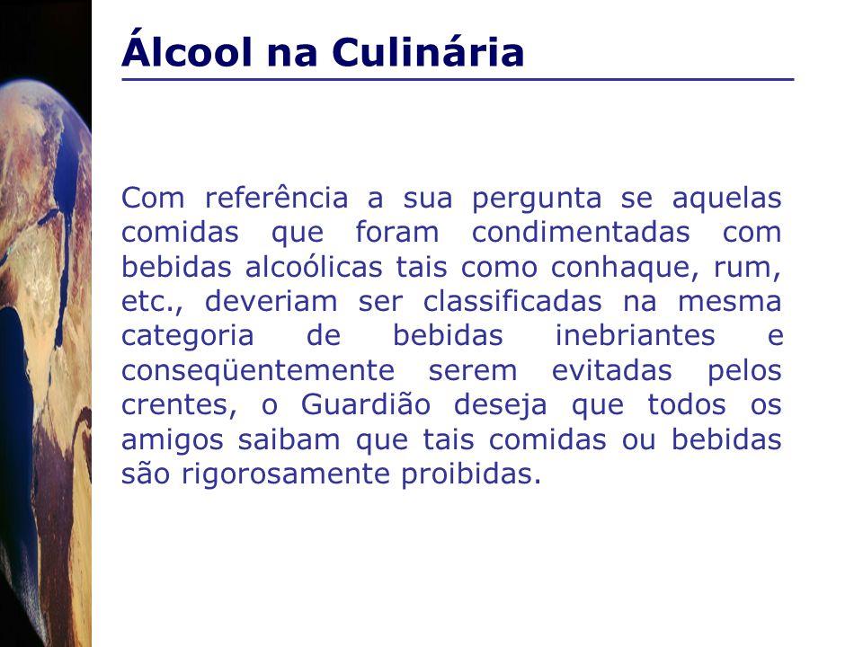 Álcool na Culinária