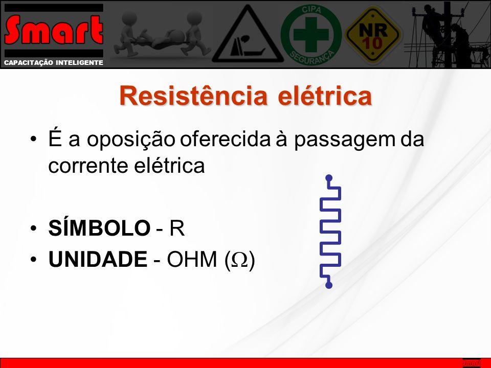 Resistência elétrica É a oposição oferecida à passagem da corrente elétrica.