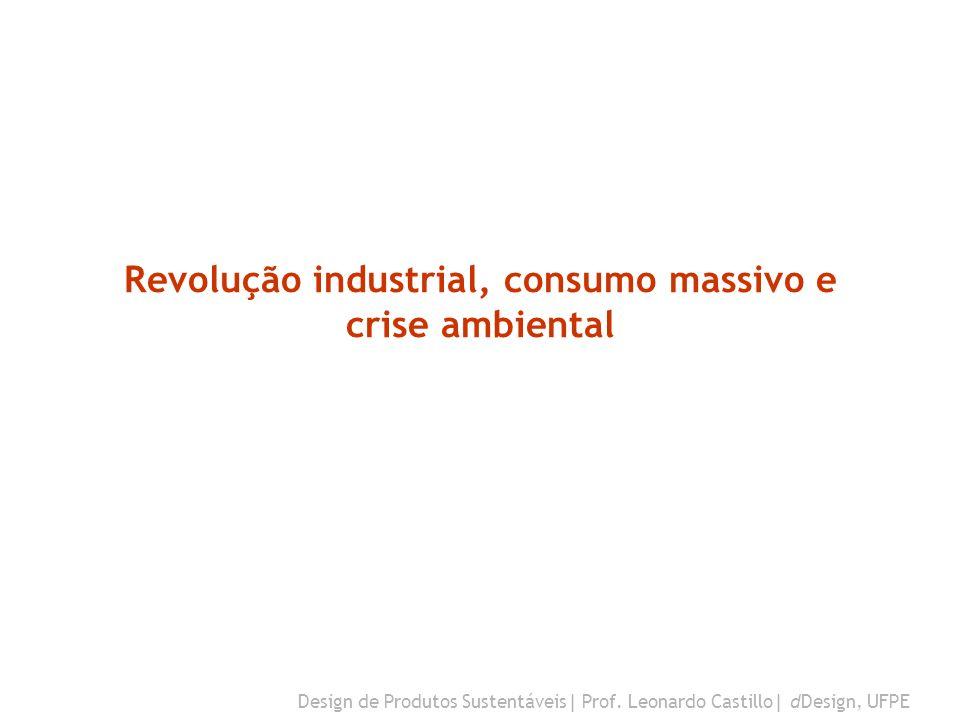 Revolução industrial, consumo massivo e crise ambiental