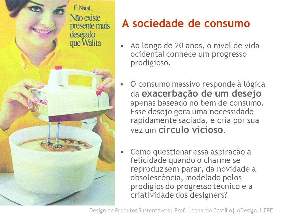 A sociedade de consumo Ao longo de 20 anos, o nível de vida ocidental conhece um progresso prodigioso.