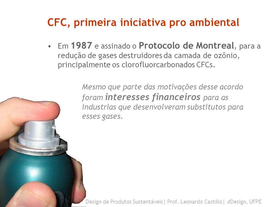 CFC, primeira iniciativa pro ambiental
