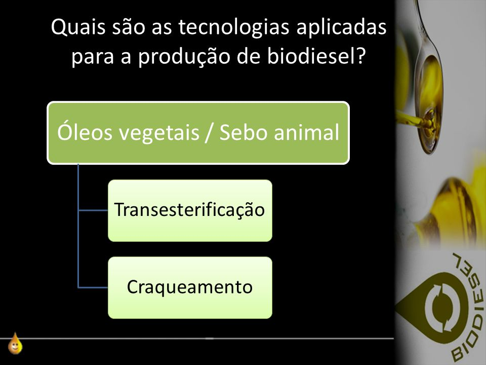 Quais são as tecnologias aplicadas para a produção de biodiesel