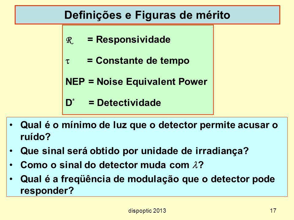 Definições e Figuras de mérito