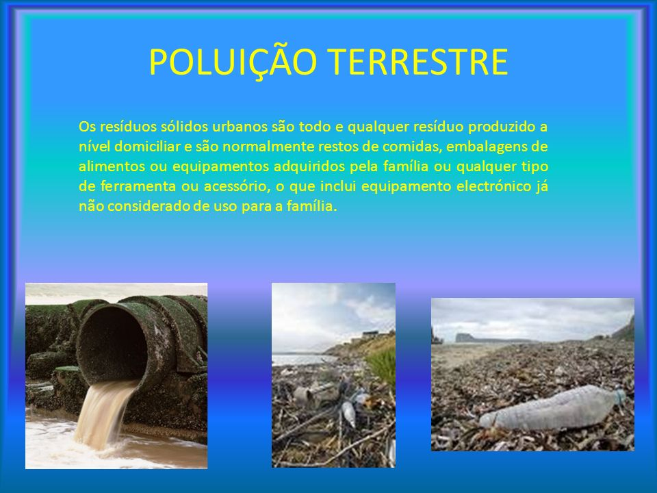 POLUIÇÃO TERRESTRE