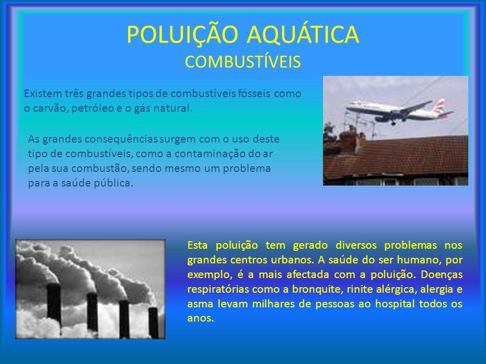 POLUIÇÃO AQUÁTICA COMBUSTÍVEIS