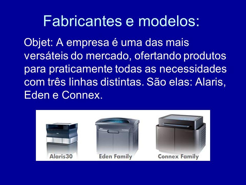 Fabricantes e modelos: