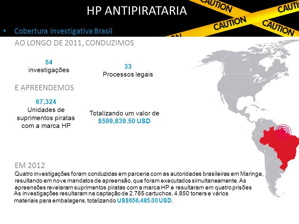 HP Antipirataria Cobertura investigativa Brasil