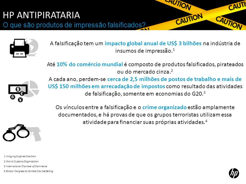 HP Antipirataria O que são produtos de impressão falsificados