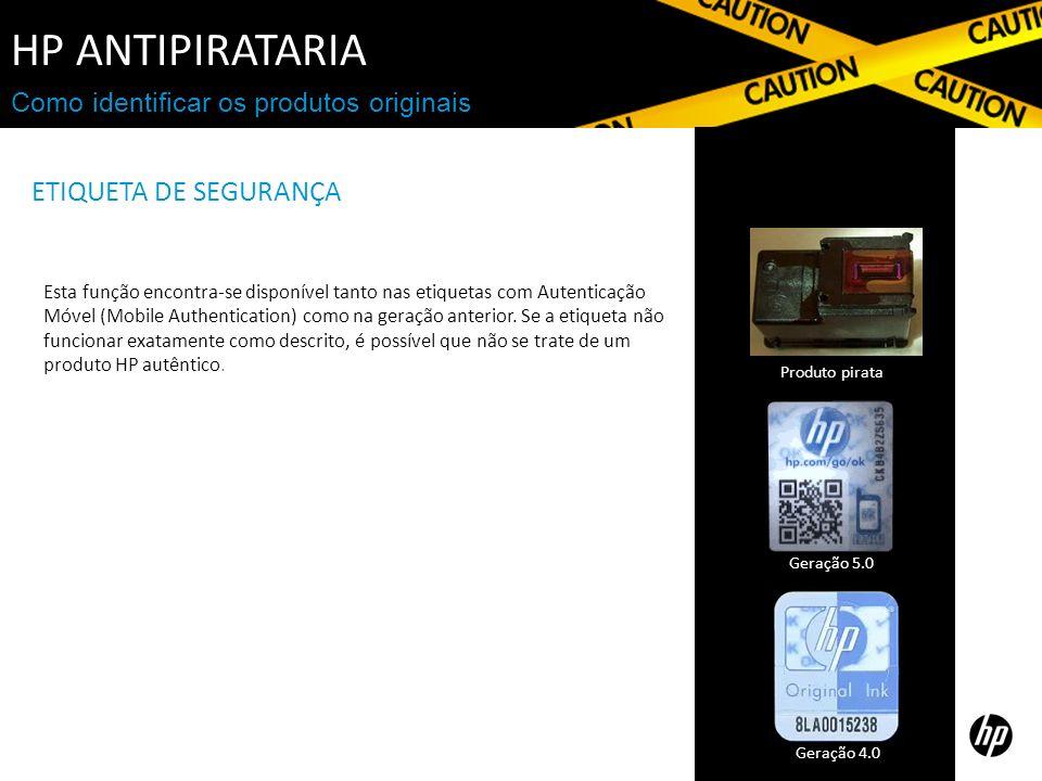 HP Antipirataria ETIQUETA DE SEGURANÇA