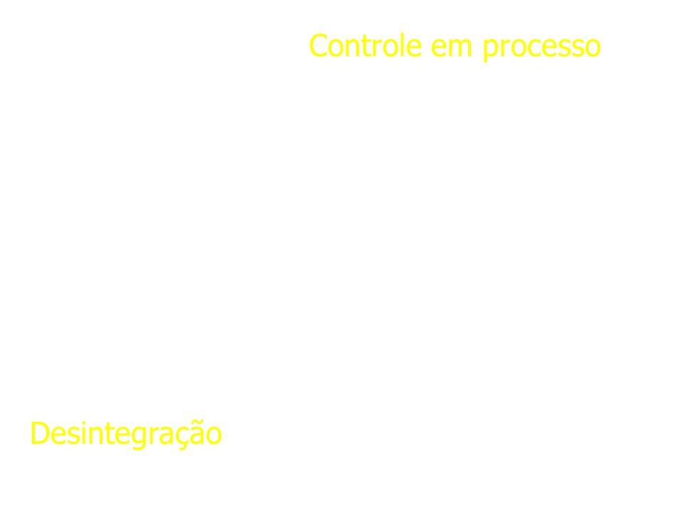 Controle em processo Desintegração