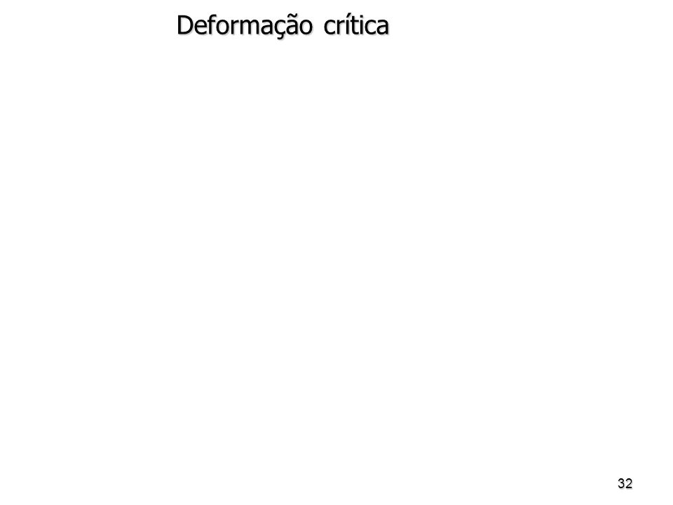Deformação crítica