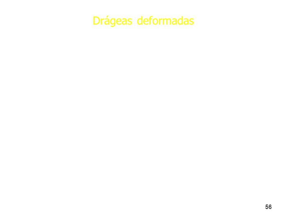 Drágeas deformadas