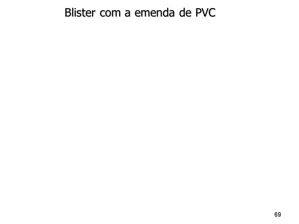 Blister com a emenda de PVC